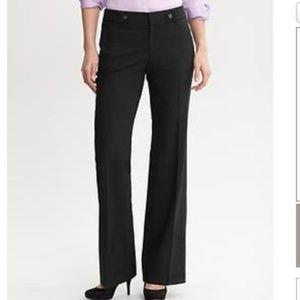 BANANA REPUBLIC Black Jackson Fit Wool Pants 12P